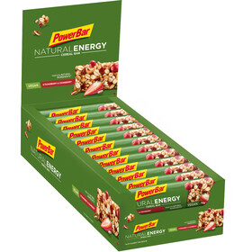 PowerBar Natural Energy Cereal Sportvoeding met basisprijs Strawberry-Cranberry 24 x 40g